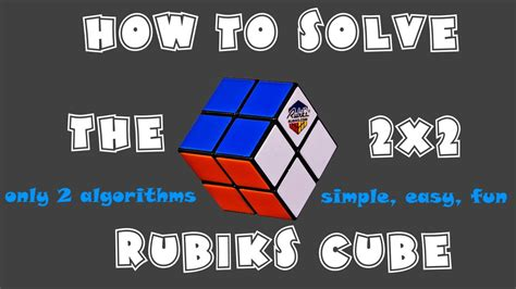tutorial rubik 2x2 how to solve a 2x2 rubiks cube easiest tutorial only 2
