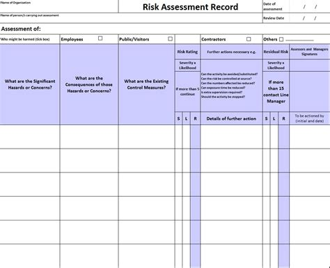 lone worker risk assessment template assessing risk sussexsafety net health and safety