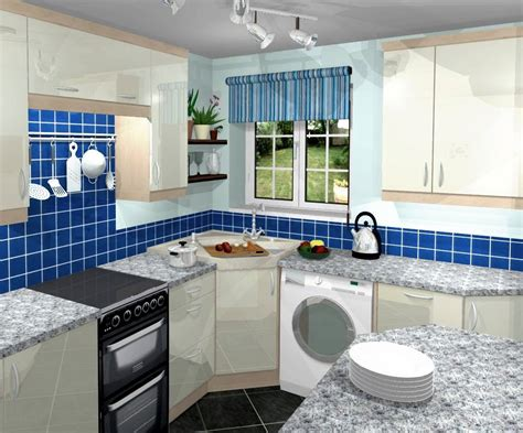 blue kitchen decor ideas blue small kitchen decorating design ideas decobizz