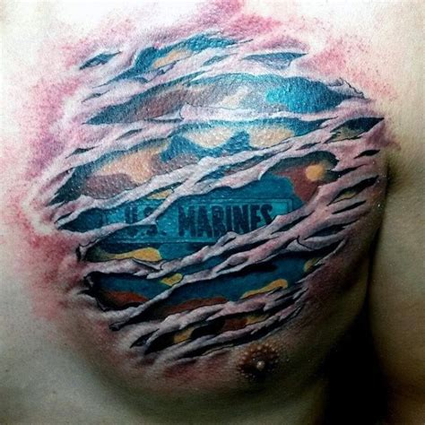 camo rip tattoo 90 marine tattoos for men semper fi ink design ideas