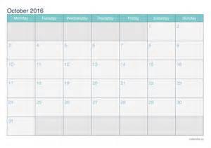 Kalender Oktober 2018 October 2016 Printable Calendar Icalendars Net