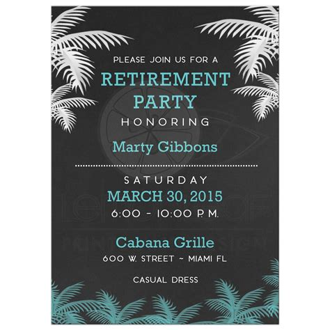 free printable retirement party invitations free printable