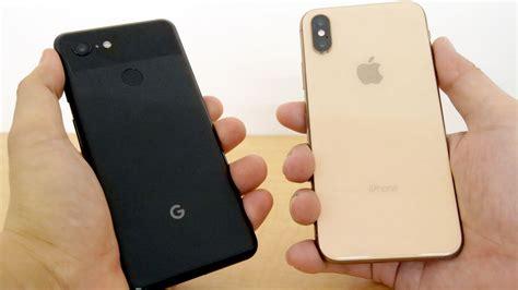 android 9 pie搭載ハイエンドスマホ pixel 3 とiphone xsを比較 どれほどの違いがあるのか gigazine