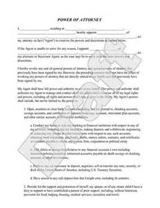 Poa Template by Power Of Attorney Form Poa Template Rocket Lawyer