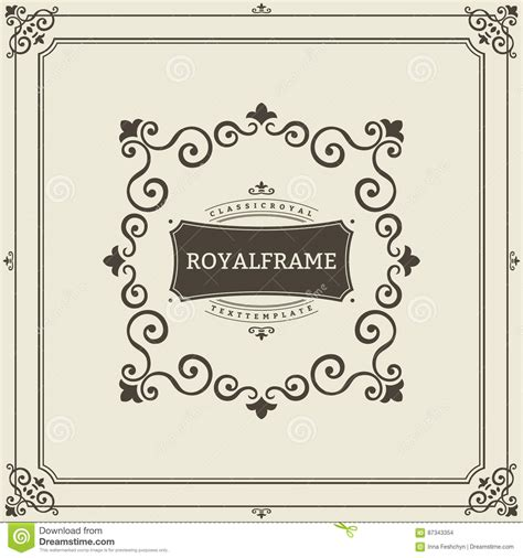 vintage multi photo card template vector frame template vintage ornament greeting card