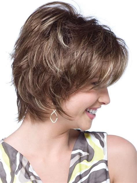 wispy and tapered ends hairstyle short face flattering bob with feathered layers and wispy