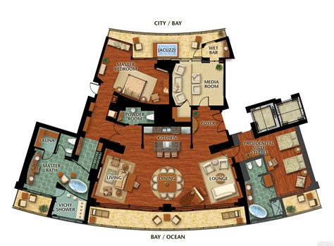 Disney Saratoga Springs Floor Plan by
