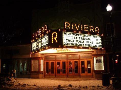 The Entrance Of A Cinema Hotel Or Theatre Riviera Theatre Begins Marquee Restoration Cinema Treasures