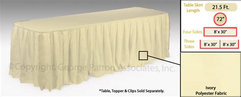 banquet table skirts banquet table skirts velcro attaching ivory sheet
