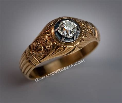 russian wedding ring vintage vintage solitaire diamond gold mens ring for sale antique