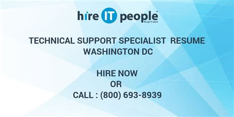 Resume Technical Support Specialist by Technical Support Specialist Resume Washington Dc Hire