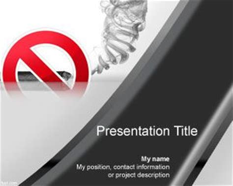 quit tabacco cigar powerpoint template ppt template