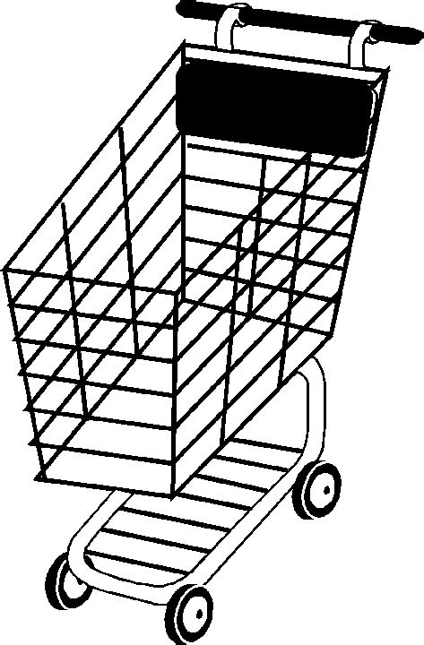 printable coloring pages grocery store shopping cart