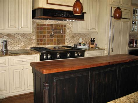 kitchen island with wood top mesquite custom wood countertops butcher block