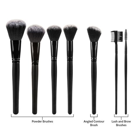 Professional Cosmetic Make Up Brush 32 Set With Kuas Make Up savisto professional 32 kabuki make up brush set and