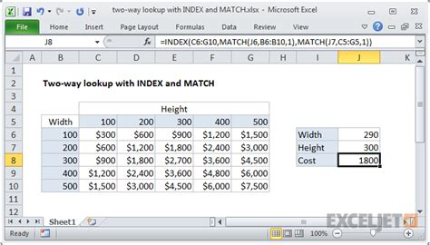 Match Search Excel Formula Two Way Lookup With Index And Match Exceljet
