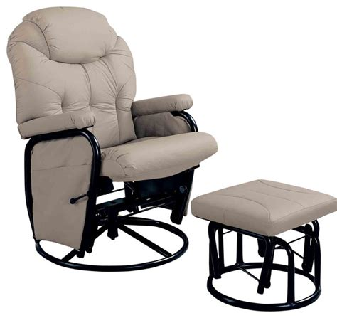 swivel glider chair with ottoman recliners with ottomans deluxe swivel glider with matching