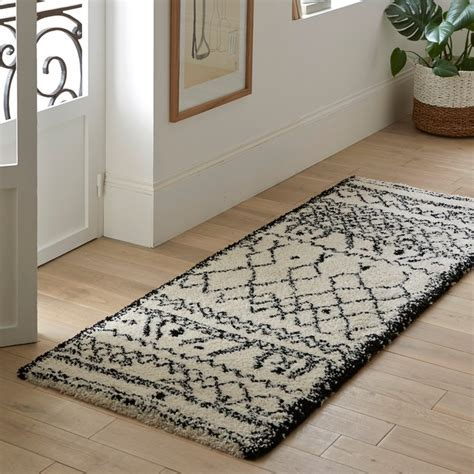 tappeti corridoio tappeto da corridoio afaw nero bianco la redoute