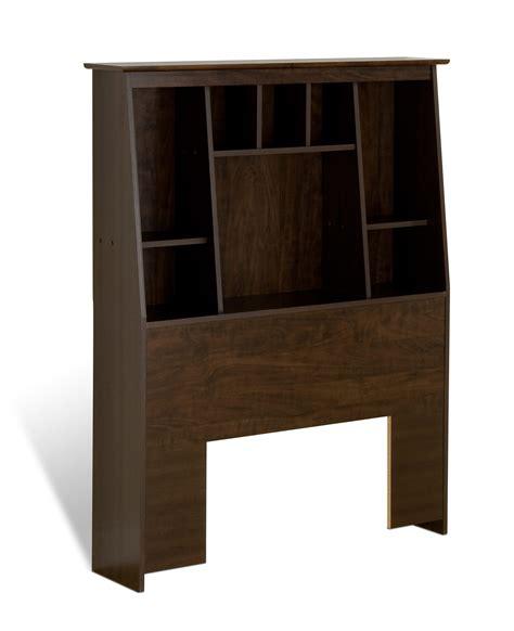 headboard bookcase slant back bookcase headboard by prepac