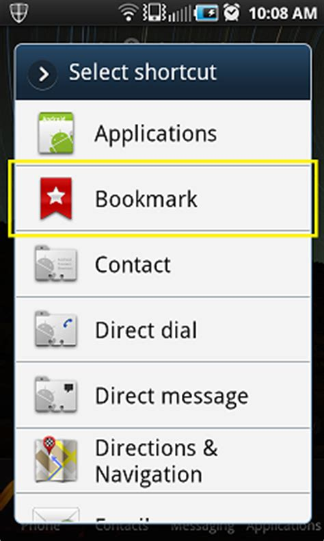 android bookmarks adding a blitz sales follow up software shortcut to an android phone blitz