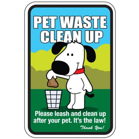 Pet Waste Clean Bag pet waste sign pet waste clean up aluminum sign with