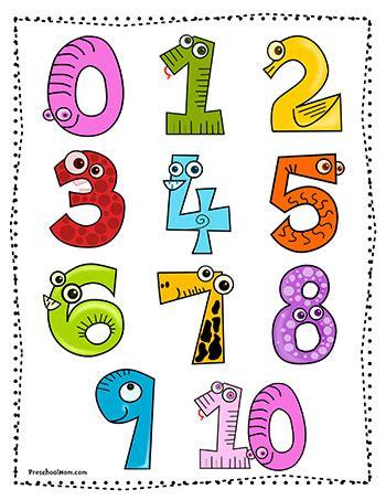 printable numbers for kindergarten number preschool printables