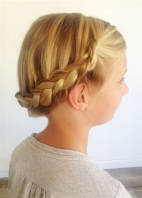 in u shape hair how we made ponytail easy braiding for moms the crown braid modern parents