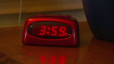 alarm clock going at 4 am stock footage 2631086