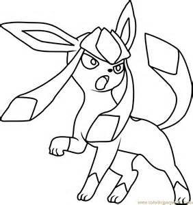 Glaceon Coloring Pages glaceon coloring page free pok 233 mon coloring pages coloringpages101