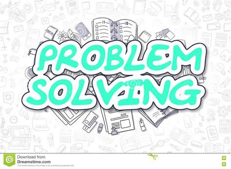 doodle text problem solving doodle green text business concept