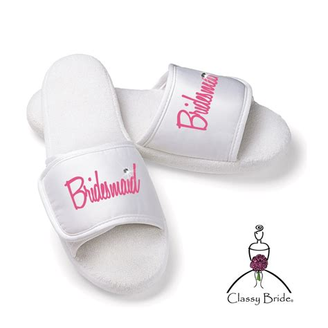 Bridesmaid Slippers, Bridesmaid Shoes, Bridesmaid Flip Flops, Custom Slippers