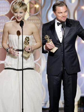 golden globe penghargaan bergengsi untuk dunia perfilman dan leonardo dicaprio dan jennifer lawrence sabet piala golden