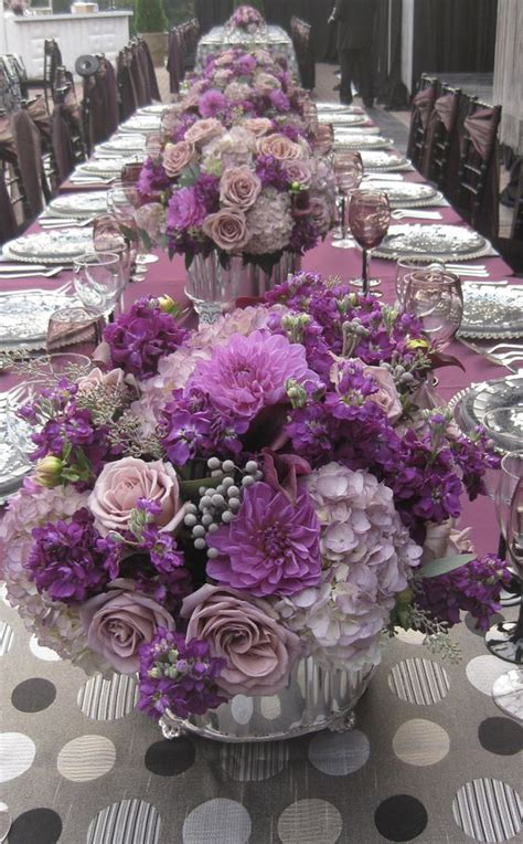 purple and gray wedding centerpieces most popular wedding colors 10 pretty palettes