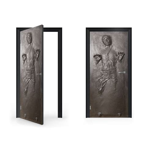 door stickers han solo in carbonite vinyl sticker for door vinyl