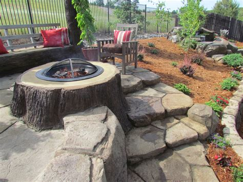 Backyard Patios With Pits by Pits The Earthscape Company