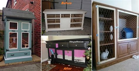 Kitchen Cabinet Recycling Center 10 diy rabbit hutches from upcycled furniture home
