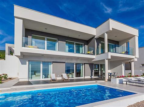 villa kaufen novi vinodolski moderne villa in panorama lage