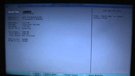reset bios notebook samsung configurar bios en una notebook samsung para booteo desde