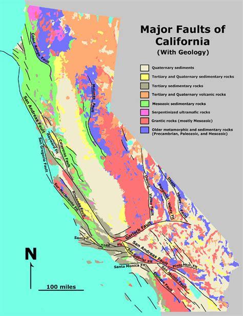 california earthquake faults map geology cafe