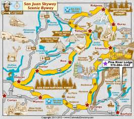 san juan skyway scenic byway map colorado vacation directory
