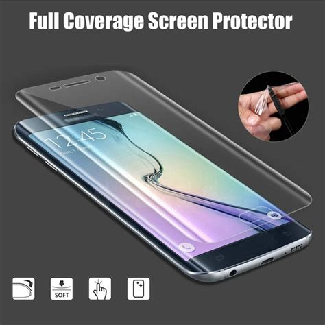 S7 Screen Guard Coverage Elastis Sintetis hd explosionproof screen protector cover for samsung galaxy s7edge curved ebay
