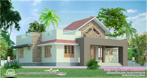 One Floor Homes by 1291 Square Feet One Floor House Home Kerala Plans