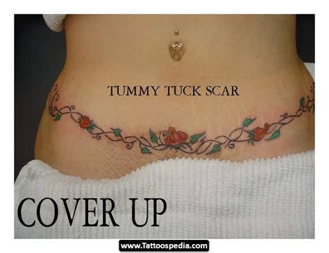 tummy tuck scar tattoos 02