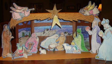 nativity craft projects nativity stable glitter