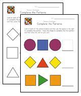 pattern recognition worksheets for preschool 1000 images about math patterns freebies or diy on