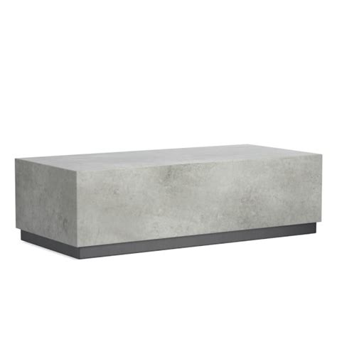 concrete outdoor table concrete outdoor coffee table williams sonoma