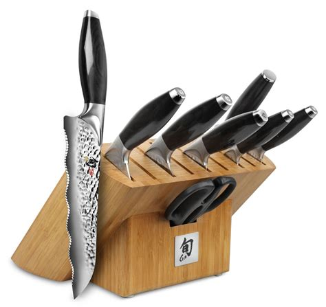 kitchen knives block set shun edo shun edo knife sets