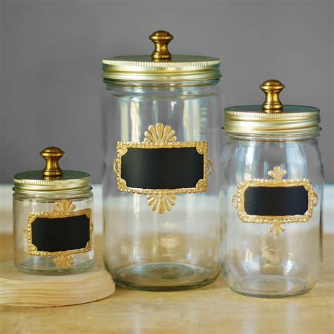 kitchen jars and canisters brass hardware jar storage canisters for kitchen set of