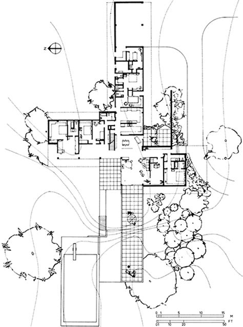 kaufmann desert house plan richard neutra archigraphie