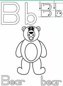 Letter Handwriting Worksheets &187 B Bear sketch template